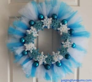 DIY Frozen Tutu Wreath