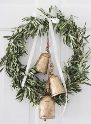 Farmhouse Style Christmas Wreath DIY