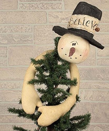 Honey In Me Believe Snowman Tree Topper