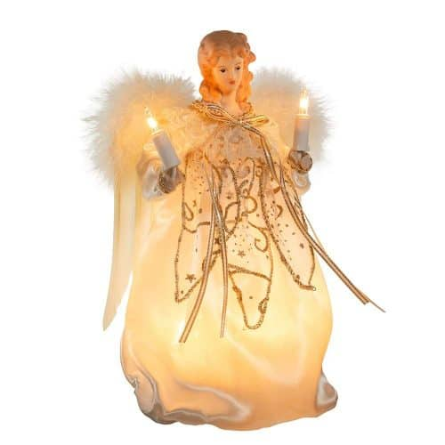 Ivory and Gold Angel Tree Topper