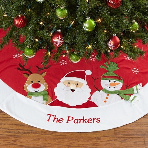 Santa Claus Lane Embroidered Tree Skirt
