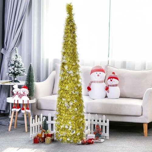 5ft Collapsible Tinsel Tree