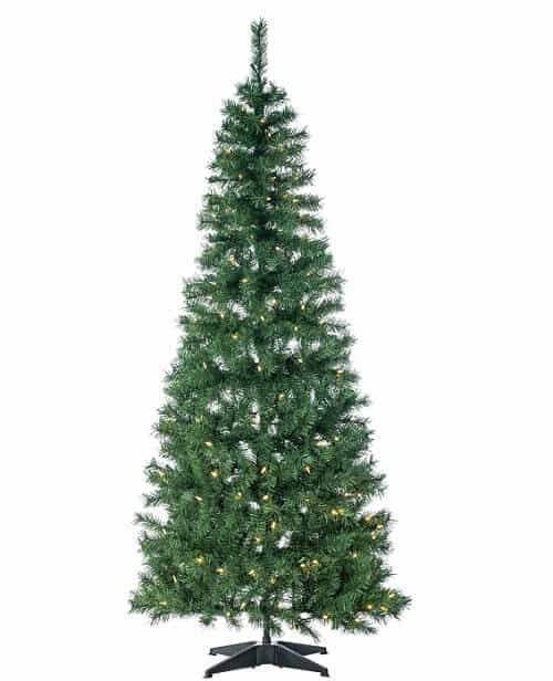 6 foot Pop Up Green Fir Tree with Warm White Lights