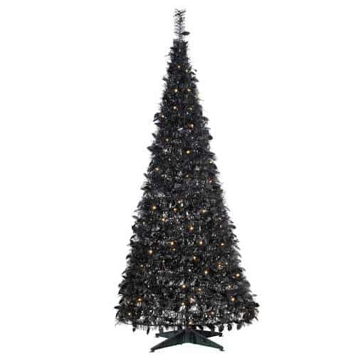 6 ft. Pull Up Tinsel Tree with 100 Clear Lights