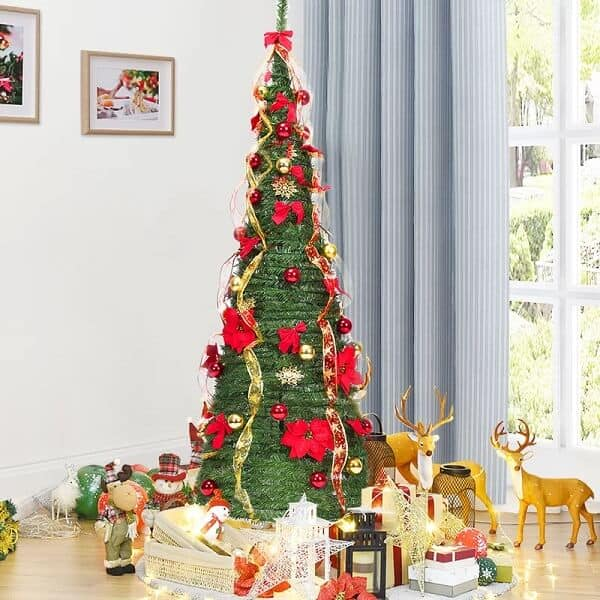 6ft Pop-Up Artificial Christmas Tree with 250 Multi-Function Lights