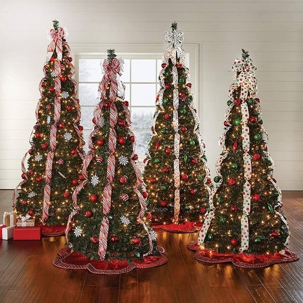 Fully Decorated 6Ft. Pop-Up Christmas Tree