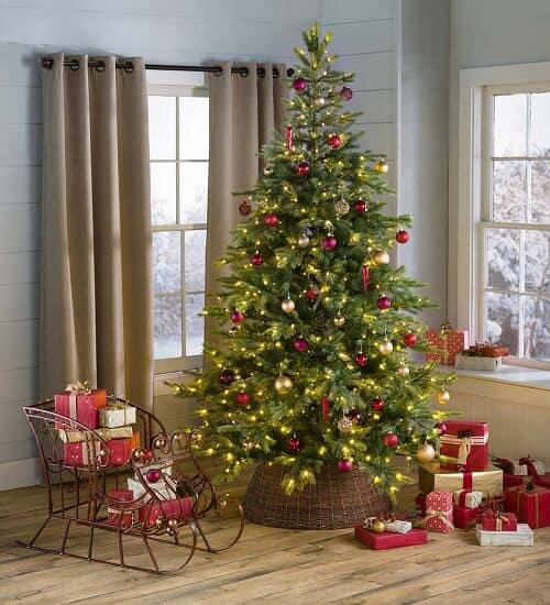 Grandis Fir Christmas Tree with Dual Light Color Function