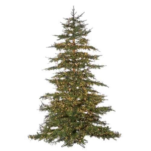 Natural-Cut Monaco 7.5' Green Pine Artificial Christmas Tree with 8032 Clear White Lights