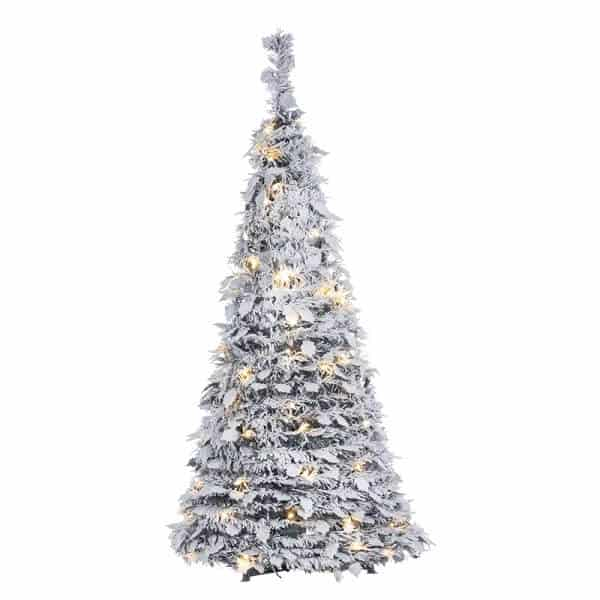 Pop up Silver Pine Artificial Christmas Tree