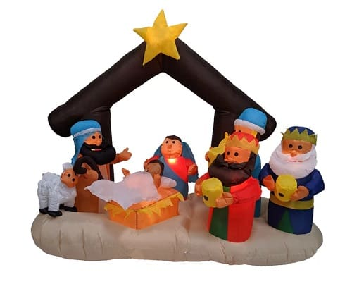 Inflatable Outdoor Nativity scene with Stable