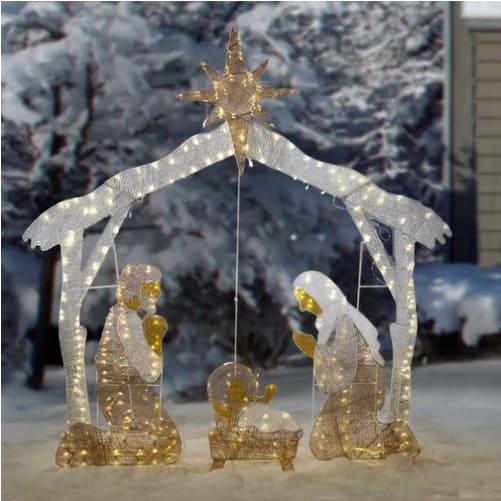 Lighted Christmas Nativity Scene for the Yard