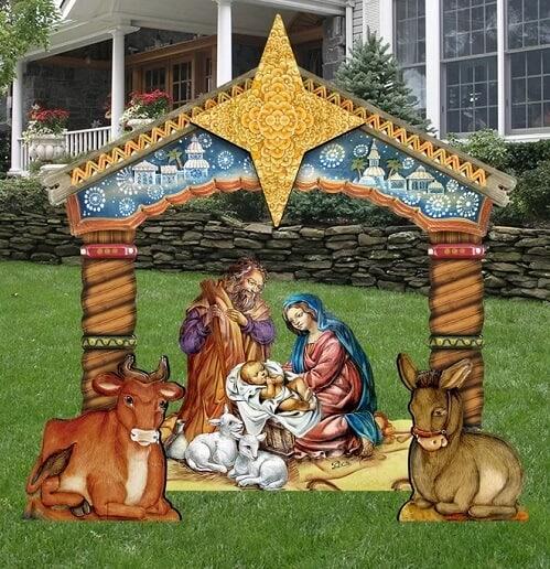 Nativity Lawn Art