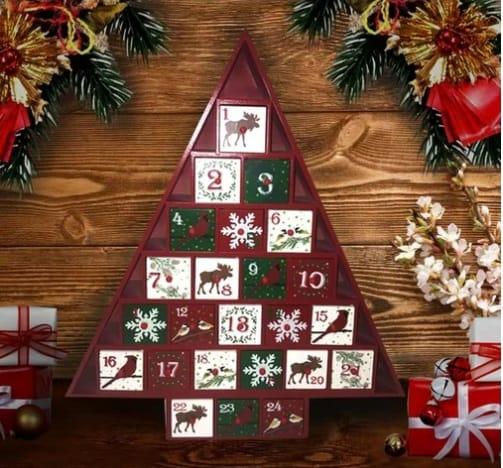 Rustic Wooden Advent Calendar