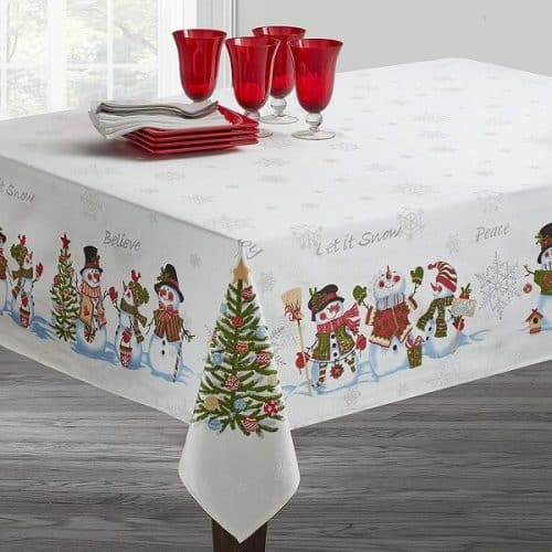 Snowman Christmas Tablecloth | Tablecloths for Christmas