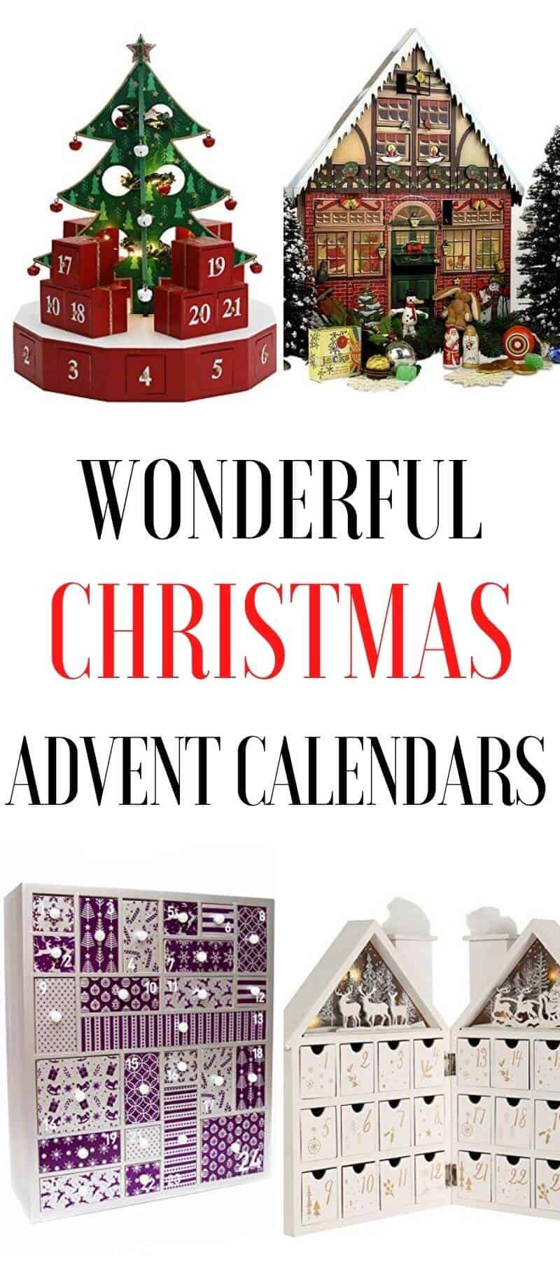Wooden Christmas Advent Calendars