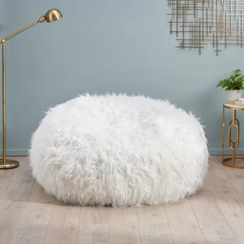 Extra Large Furry Bean Bag Chair | Gifts for a Girls Bedroom