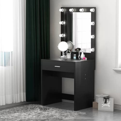 Vanity with Lighted Mirror