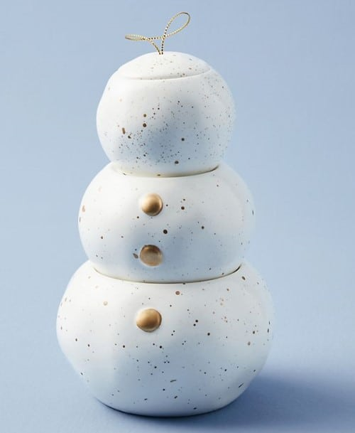 Capri Blue Stackable Snowman Candle