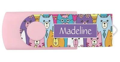 Cute Cartoon Cats Personalized USB Flash Drive