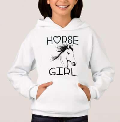 Cute Horse Lover Cowgirl Hoodie