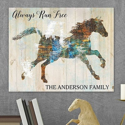 Free Spirit Horse Personalized Canvas Tile Board