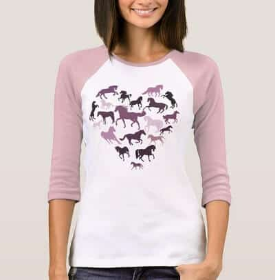 Horse and Pink Hearts T-Shirt