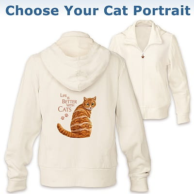 Life Is Better With Cats Cat Hoodie