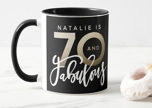 Personalized 70th Birthday Coffee Mug