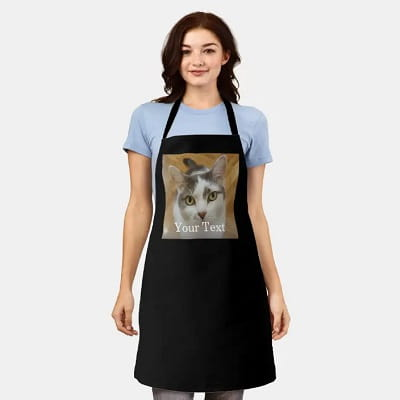Personalized Cat Apron
