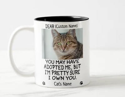 Personalized Cat's Photo and Name Coffee Mug