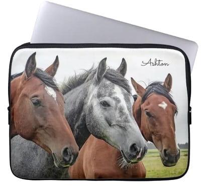 Personalized Horse Laptop Sleeve