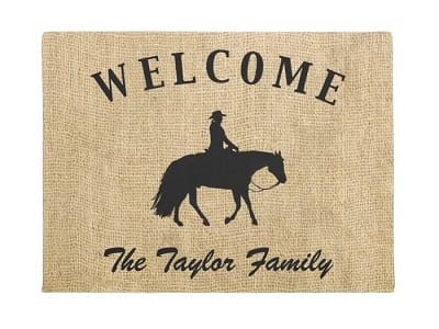Personalized Horse Silhouette Doormat