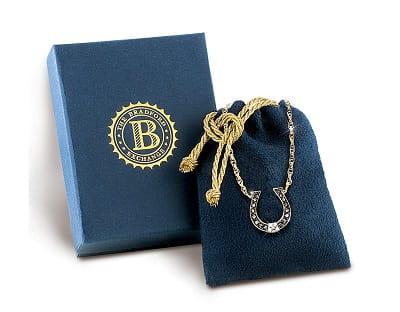 Sapphire And Diamond Horseshoe Necklace