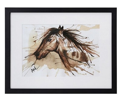 Spirit Winds Horse Watercolor Painting