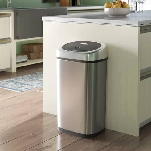 Stainless Steel Motion Sensor Trash Can
