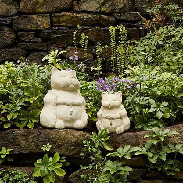 Zen Cat Garden Sculpture