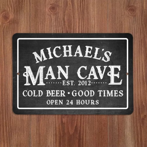 Chalkboard-look Man Cave Sign