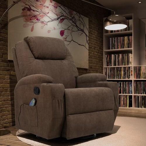 Heated Recliner Massage Chair Rocker