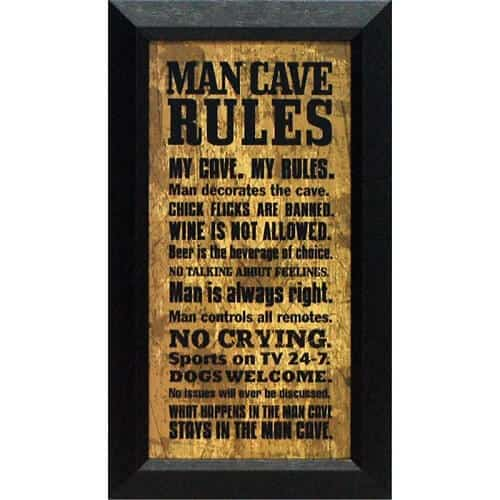 Man Cave Rules Picture Frame