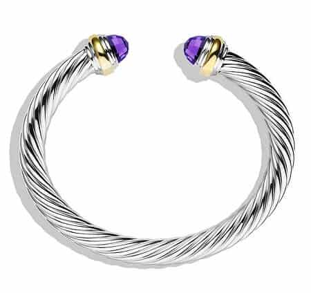 David Yurman Cable Classics Bracelet with Gemstone and Gold