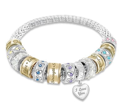 Message from the Heart Beaded Bracelet For Daughters