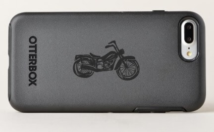 OtterBox Phone Case with Retro Motorcycle Illustration