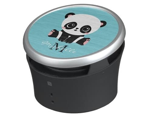 Personalized Cute Panda Bubble Gum Blue Bluetooth Speaker
