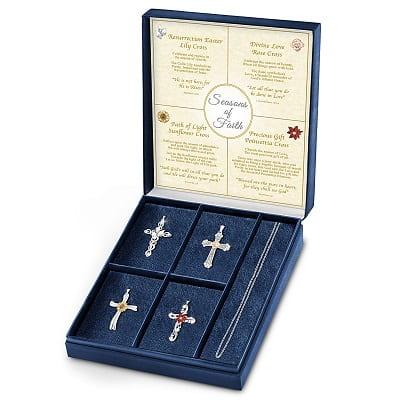 Seasons Of Faith Necklace Set With Four Cross Pendants