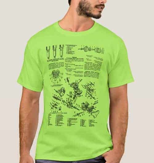 Vintage Motorcycle Manual Illustration Kitsch T-Shirt