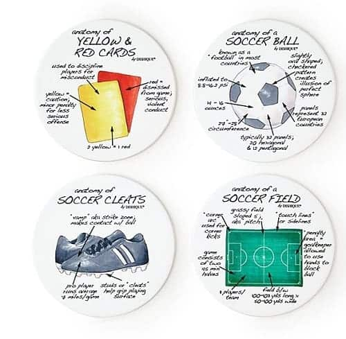 Anatomy of Sports Coasters | Soccer Gifts