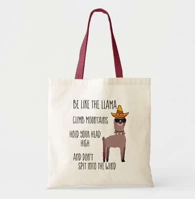 Be Like the Llama Tote