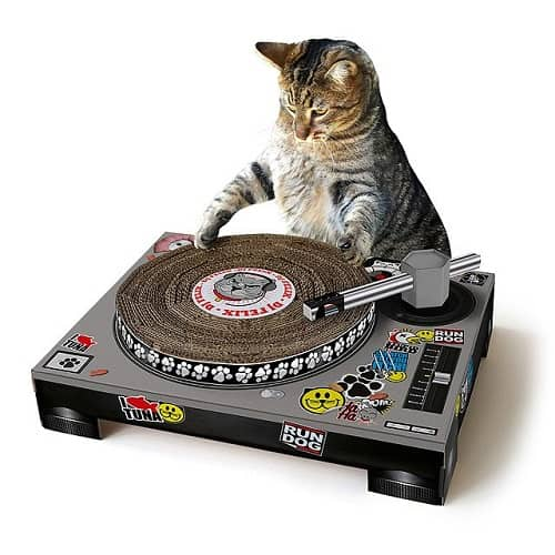 Gifts for Cats - DJ Cat Scratching Pad