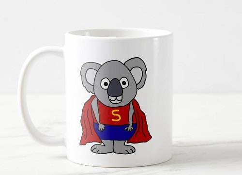 Koala Bear Superhero Coffee Mug