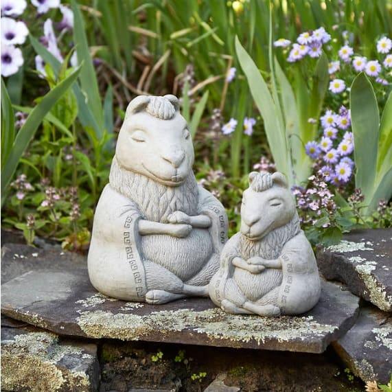 LLama Zen Garden Sculpture - llama gifts for home